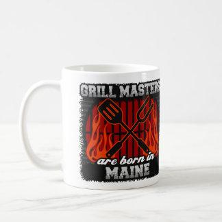 Caneca De Café O mestrado da grade é nascido em Maine