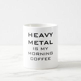 Caneca De Café O metal pesado é meu café da manhã