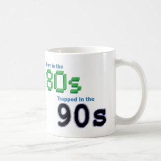 Caneca De Café O nascer no anos 80, prendido nos anos 90 agride