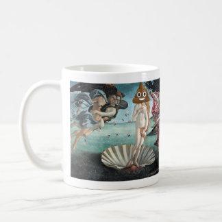 Caneca De Café O nascimento de Venus com o tombadilho feliz