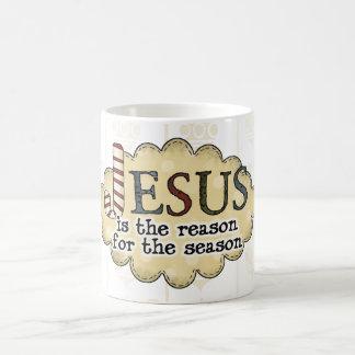 Caneca De Café O natal vintage Jesus é o copo de café da razão