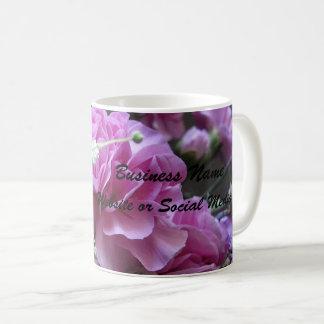 Caneca De Café O negócio cor-de-rosa da peônia personaliza