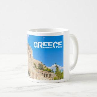 Caneca De Café O Odeon do Atticus de Herodes em Atenas, piscina