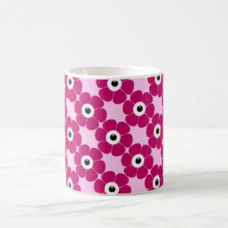 Caneca De Café o olho da flor cor-de-rosa
