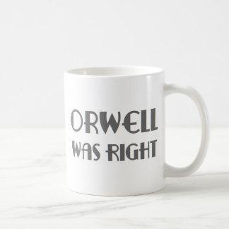 Caneca De Café o orwell era direito