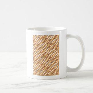 Caneca De Café O ouro LISTRA PONTOS dourados de n Brown.