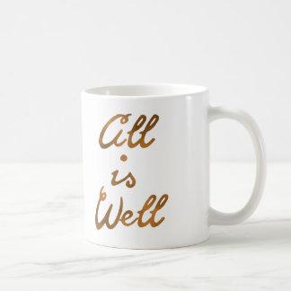 Caneca De Café O ouro todo é tipografia boa das citações