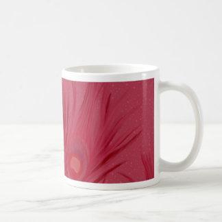 Caneca De Café O pavão cor-de-rosa bonito empluma-se o teste