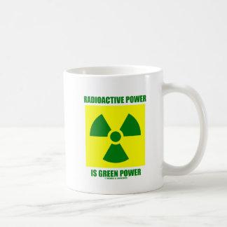 Caneca De Café O poder radioativo é energias verdes (o sinal)