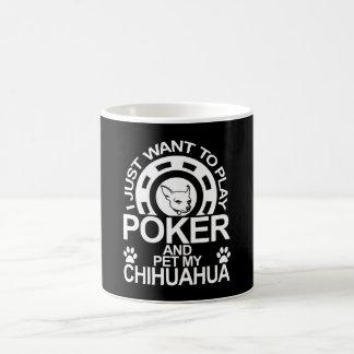 Caneca De Café O póquer do jogo e Pet meu cão da chihuahua
