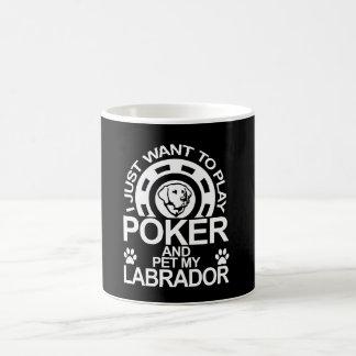 Caneca De Café O póquer do jogo e Pet meu Labrador