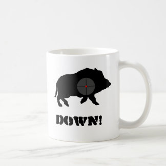 Caneca De Café O porco preto de Bucknuts agride para baixo