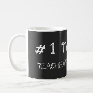 Caneca De Café O professor do número 1 personaliza com nome dos