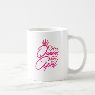 Caneca De Café O Queens é nascido em abril