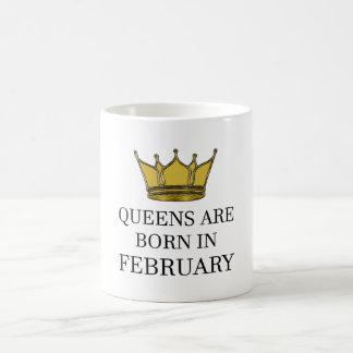 Caneca De Café O Queens é nascido em fevereiro