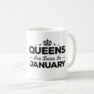 Caneca De Café O Queens é nascido em janeiro
