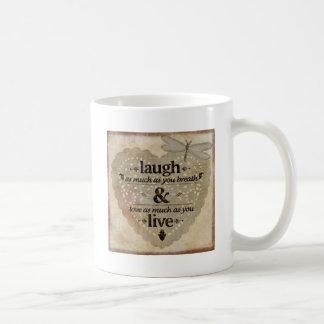 Caneca De Café O riso tanto AsYou respira o presente das citações