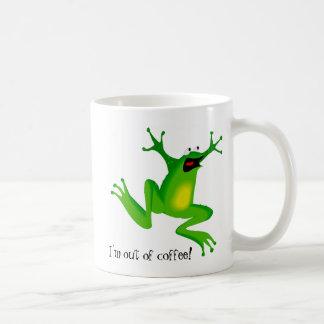 Caneca De Café O sapo do pânico precisa o café