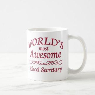 Caneca De Café O secretário o mais impressionante da escola do