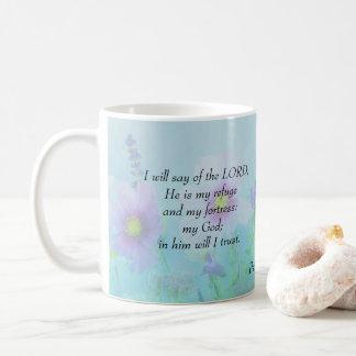 Caneca De Café O senhor é meu refúgio, 91:2 dos salmos