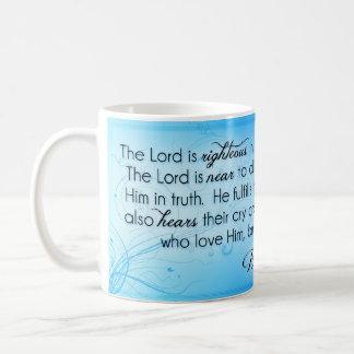 Caneca De Café O senhor é o 145:17 íntegro do salmo do ~ - 20