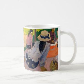 Caneca De Café O Siesta por mulheres Tahiti de Paul Gauguin