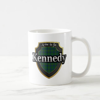 Caneca De Café O Tartan escocês da dinastia de Kennedy do clã