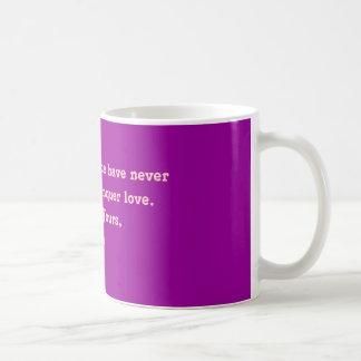 Caneca De Café O tempo e a distância nunca puderam ao conqu…