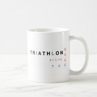 Caneca De Café O Triathlon deixou a raça começar