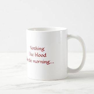 Caneca De Café O vampiro, nada gosta do sangue na manhã…