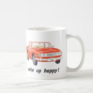 Caneca De Café O veado de Triumph, carro vermelho clássico