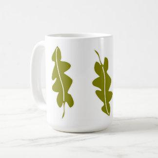 Caneca De Café O verde do primavera da natureza deixa o teste