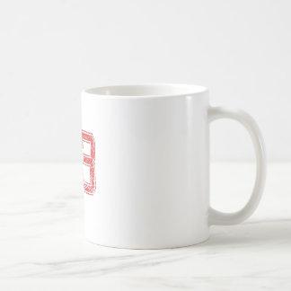Caneca De Café O vermelho ostenta Jerzee número 83