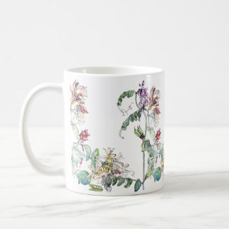 Caneca De Café O Wildflower das ervilhas da madressilva do