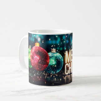 Caneca De Café O x-mas festivo do feriado do Feliz Natal ornament