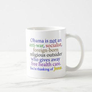 Caneca De Café Obama & Jesus