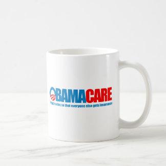 Caneca De Café Obamacare - trabalho mais duramente