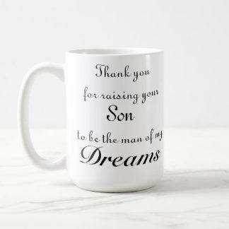 Caneca De Café Obrigado aumentando seu filho para ser o homem de