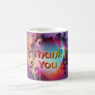 """Caneca De Café """"Obrigado que bonito você"""" agride com flores"""