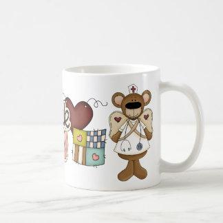 Caneca De Café Obrigado que da enfermeira do urso você agride