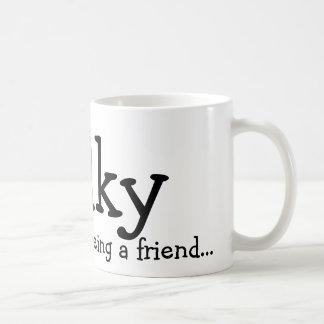 Caneca De Café Obrigado sendo um amigo…, Wilky