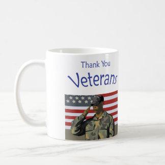 Caneca De Café Obrigado veteranos