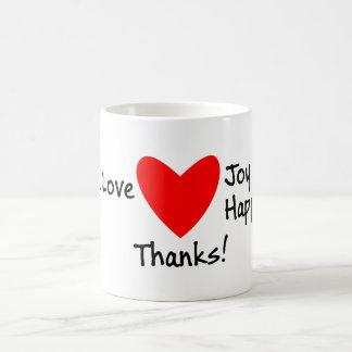 Caneca De Café Obrigados da alegria e da felicidade do amor da