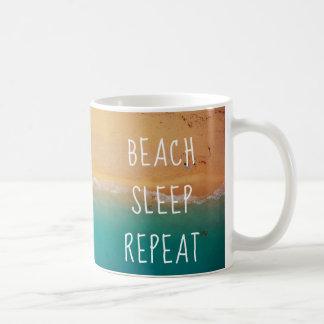 Caneca De Café Oceano da repetição do sono da praia