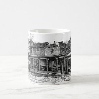 Caneca de café ocidental da cidade