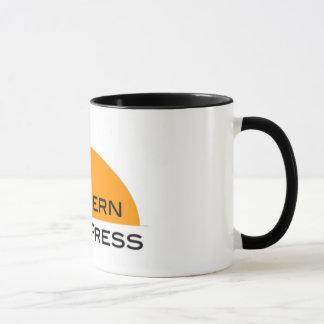 Caneca de café ocidental da imprensa livre
