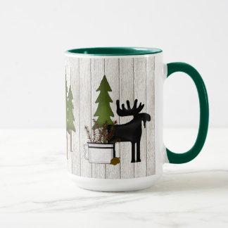 Caneca de café ocidental das madeiras nortes
