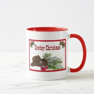 Caneca de café ocidental do Natal do vaqueiro