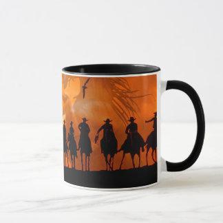 Caneca de café ocidental do rancho do cavalo do