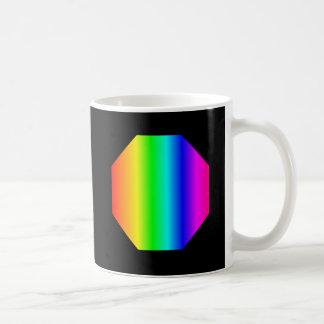 Caneca De Café Octagon do arco-íris